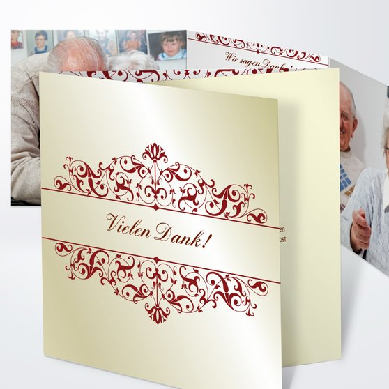 Bestimmung - Doppelklappkarte 145x145 - Helles Lindgrün