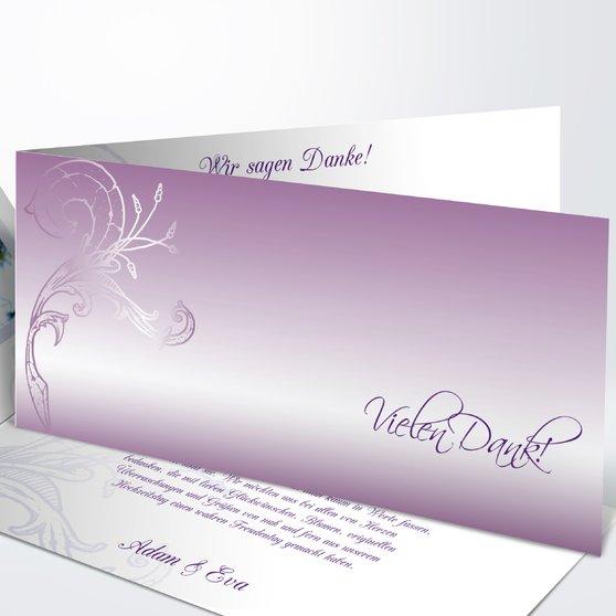 Frühlingsgefühle - Horizontale Klappkarte 210x100 - Zartes Violett