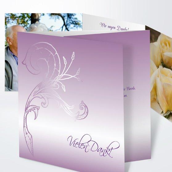 Frühlingsgefühle - Doppelklappkarte 145x145 - Zartes Violett