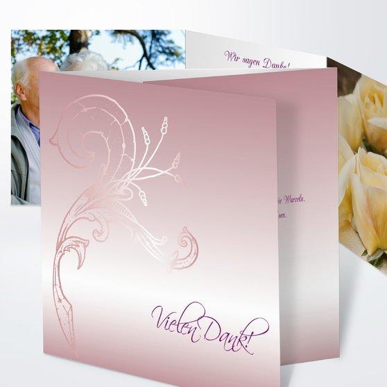 Frühlingsgefühle - Doppelklappkarte 145x145 - Altrosa