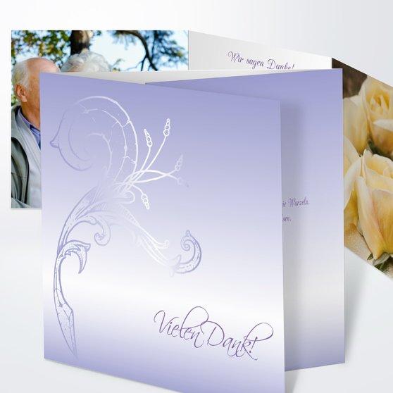 Frühlingsgefühle - Doppelklappkarte 145x145 - Zartes Lila