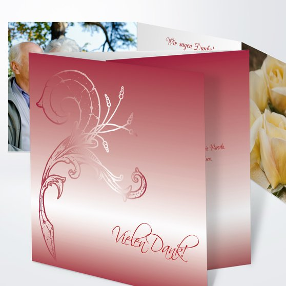 Frühlingsgefühle - Doppelklappkarte 145x145 - Kirsche