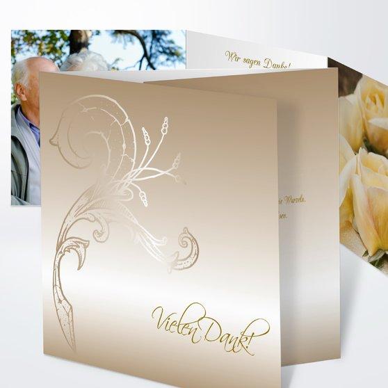 Frühlingsgefühle - Doppelklappkarte 145x145 - Dunkel Bisquite