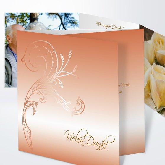 Frühlingsgefühle - Doppelklappkarte 145x145 - Helles Ocker