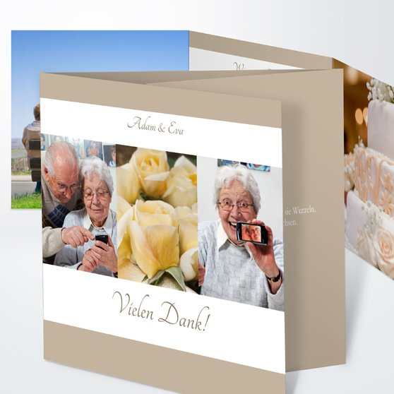 Ja, ich will - Doppelklappkarte 145x145 - Weiß