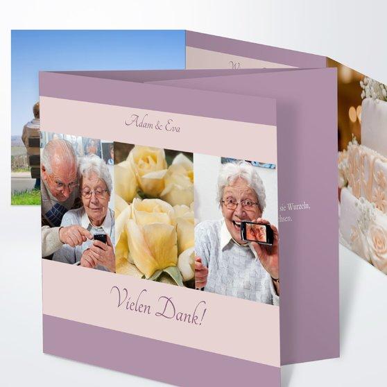 Ja, ich will - Doppelklappkarte 145x145 - Altrosa