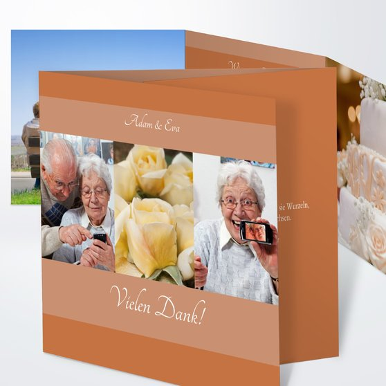 Ja, ich will - Doppelklappkarte 145x145 - Helles Terracotta