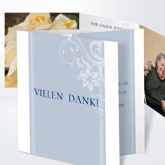 Traumhochzeit - Doppelklappkarte 145x145 - Blaugrau