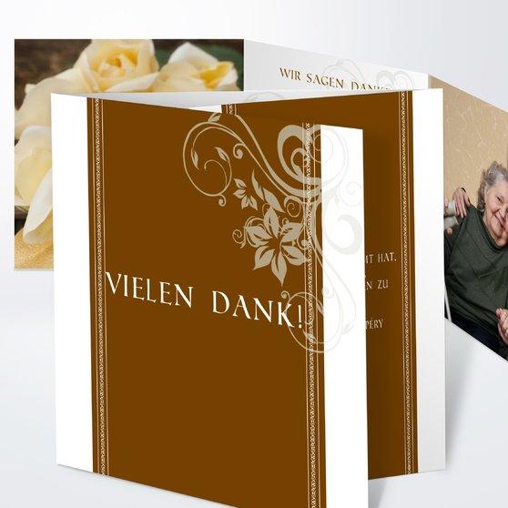 Traumhochzeit - Doppelklappkarte 145x145 - Gold