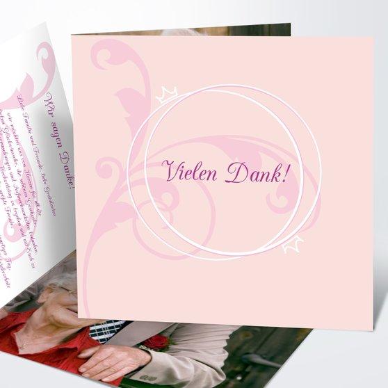 Pastellblüte - Quadratische Klappkarte 145x145 - Rosen Pink