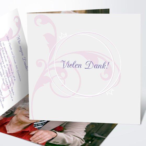 Pastellblüte - Quadratische Klappkarte 145x145 - Lila