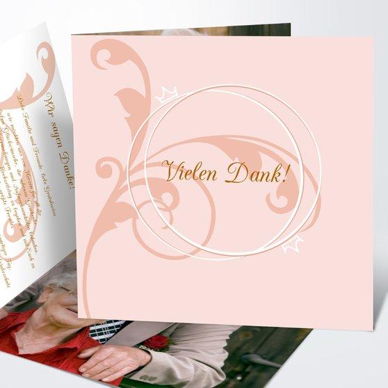 Pastellblüte - Quadratische Klappkarte 145x145 - Helles Ocker