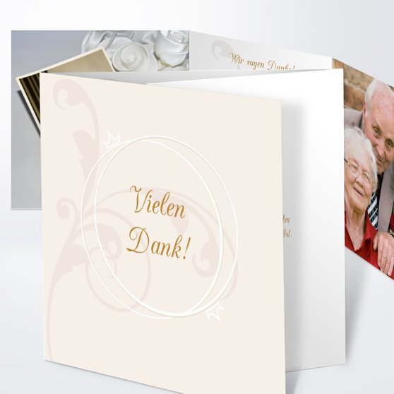 Pastellblüte - Doppelklappkarte 145x145 - Hellgelb