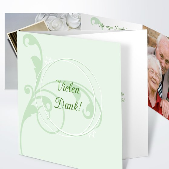 Pastellblüte - Doppelklappkarte 145x145 - Feines Aquamarin