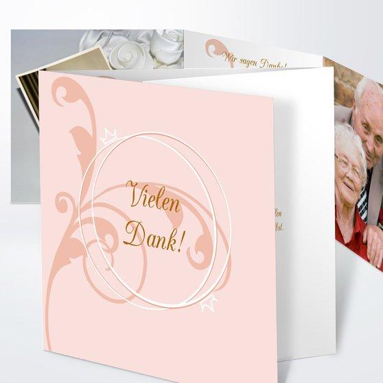 Pastellblüte - Doppelklappkarte 145x145 - Helles Ocker