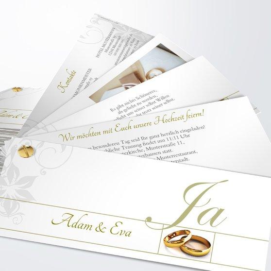 Weiße Hochzeit - Kartenfächer 210x80 - Khaki