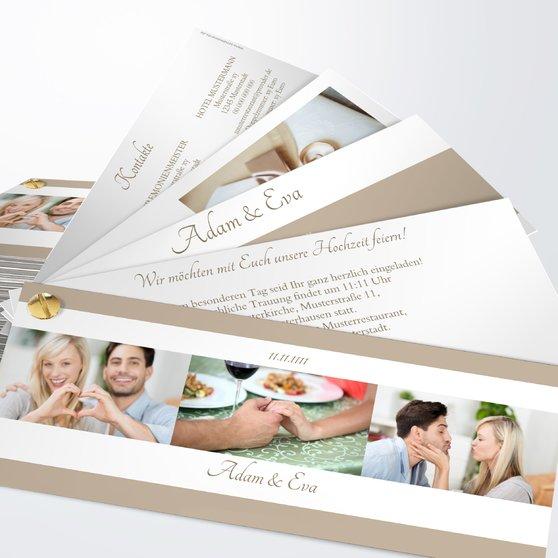 Ja, ich will - Kartenfächer 210x80 - Weiß