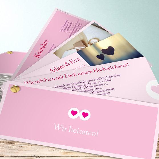 Herzmurmeln - Kartenfächer 210x80 - Rosen Pink
