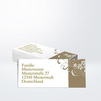 Adressaufkleber Geburtstag - Blütenkarte 80