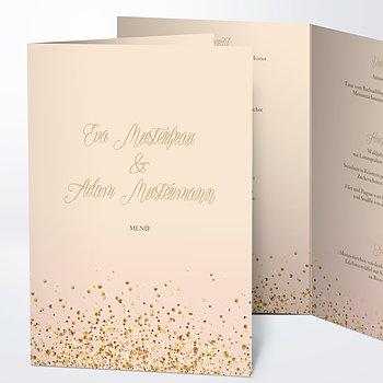 Menükarte Hochzeit - Geflitter