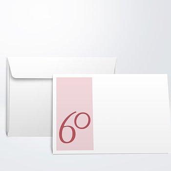 Umschlag mit Design Geburtstag - Meine Sechzig