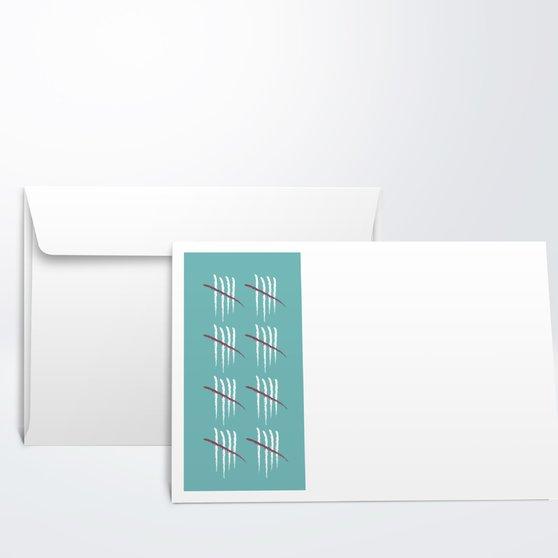 Umschlag Mit Design Geburtstag   Strichliste 40