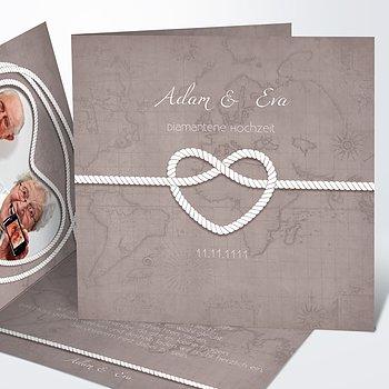 Diamantene Hochzeit Einladung - Starke Verbindung