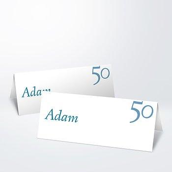 Tischkarten für Ihre Geburtstagsfeier - Meine Fünfzig