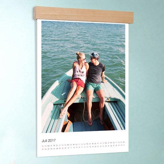 Klassisch - DIN A3: 297 x 420 mm mit edler Holzblende - Weiß