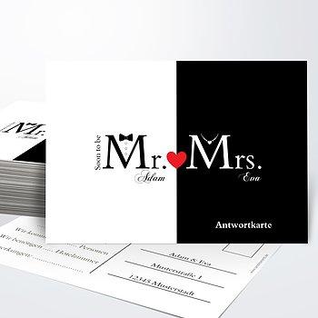 Antwortkarte - Mr & Mrs