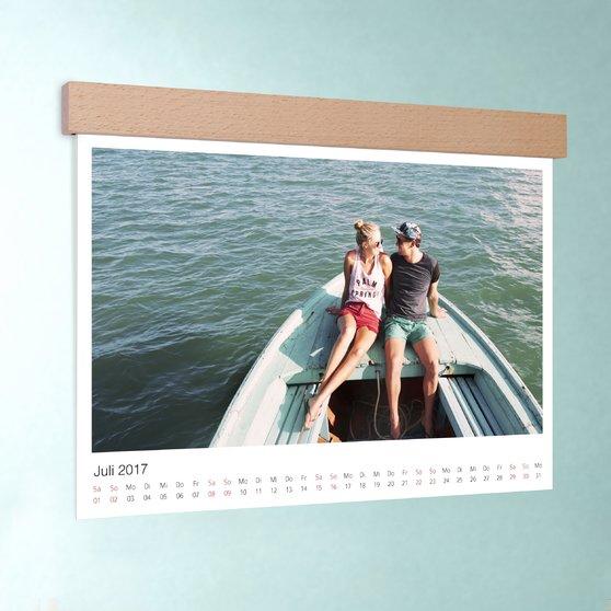 Klassisch - DIN A4: 297 x 210 mm mit edler Holzblende - Weiß