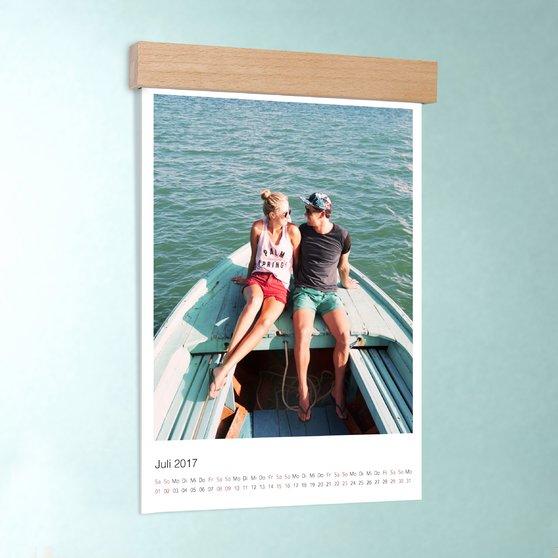Klassisch - DIN A4: 210 x 297 mm mit edler Holzblende - Weiß
