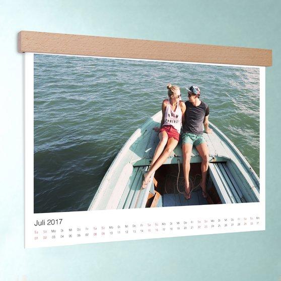 Klassisch - DIN A3: 420 x 297 mm mit edler Holzblende - Weiß