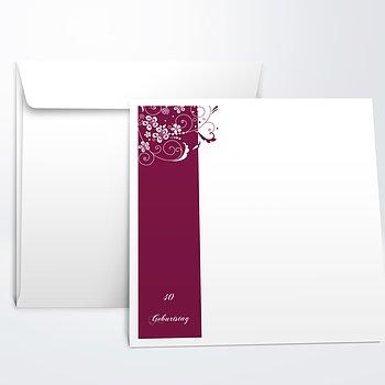 Umschlag mit Design Geburtstag - Blütenkarte