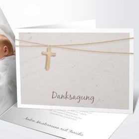 Danksagung Zur Taufe   Holzkreuz