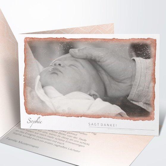 Danksagung zur Taufe - Baby Aquarell