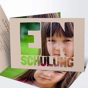 Einladungen zur Einschulung - Fototext Einschulung