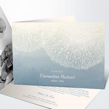 Diamantene Hochzeit Einladung - Löwenzahn