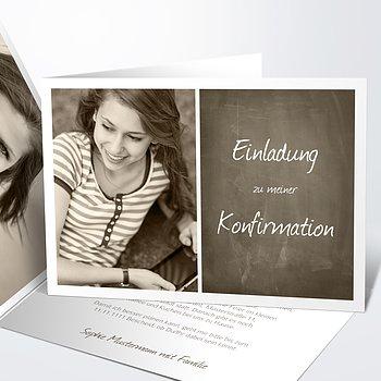 Konfirmationskarten   Getäfelt Jung