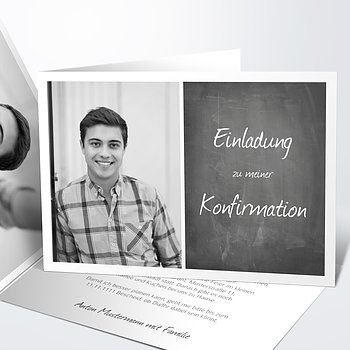 Konfirmationskarten - Getäfelt jung