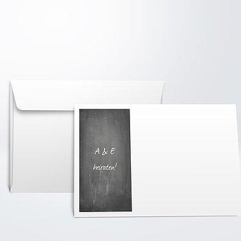 Umschlag mit Design Hochzeit - Getäfelt