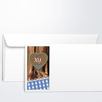 Umschlag mit Design Geburtstag - Wiesnherz