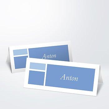 Tischkarten - Taufcollage