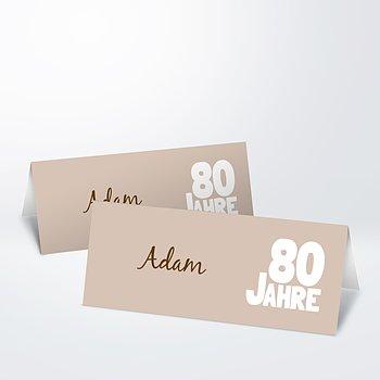 Tischkarten für Ihre Geburtstagsfeier - Stolze 80