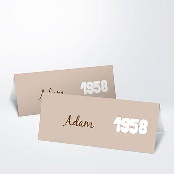 Tischkarten für Ihre Geburtstagsfeier - Jahrgang 1958
