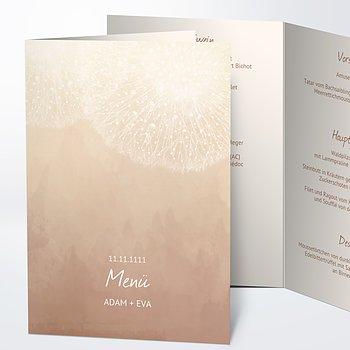 Menükarte Hochzeit - Löwenzahn