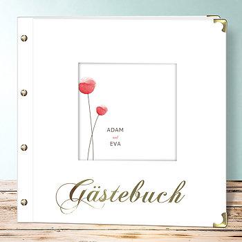 Hochzeitsbuch - Mohnblumen