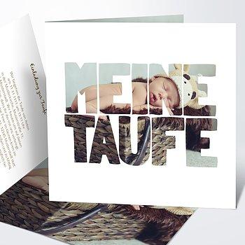 Taufkarten - Taufe Fototext