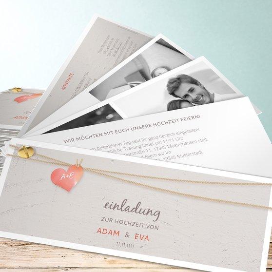 Liebesfaden - Kartenfächer 210x80 - Hellbraun