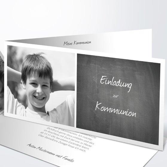 Kommunionskarten - Getäfelt jung